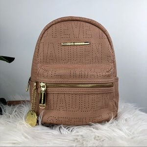 Steve Madden Bailey Perforated Backpack Nude/Blush